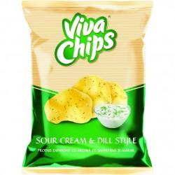 Chips SOUR CREAM&DILL STYLE Viva 100g