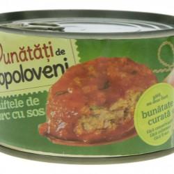 Chiftele de porc cu sos BUNATATI DE TOPOLOVENI