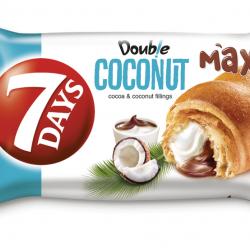 Croissant cu crema cocos si cacao Double Max
