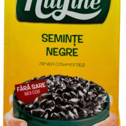 Seminte negre de floarea soarelui prajite, fara sare