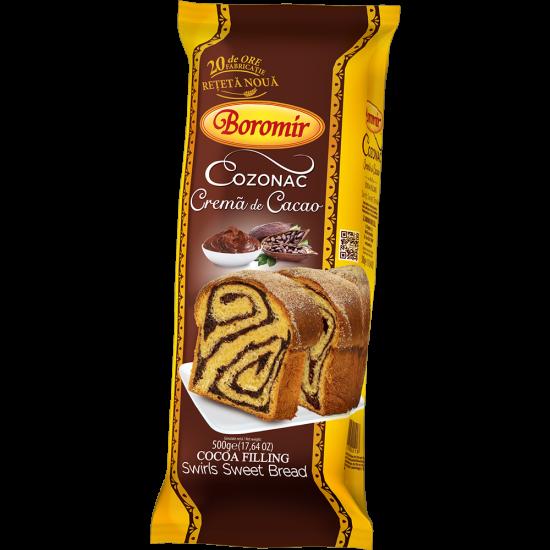Cozonac Boromir cu crema de cacao